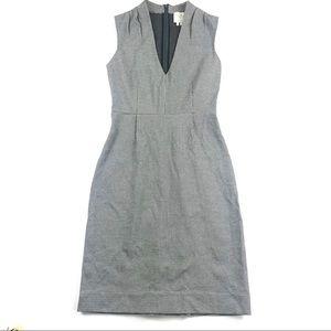 Kate Spade Houndstooth Sheath Dress Grey Sz 2